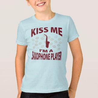 Kiss Me I'm A Saxophone Player T-Shirt