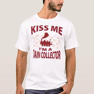 Kiss Me I'm A Train Collector T-Shirt