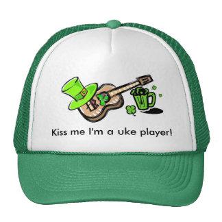 Kiss me I'm a uke player! Cap