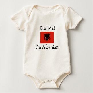 Kiss Me! I'm Albanian Baby Bodysuit