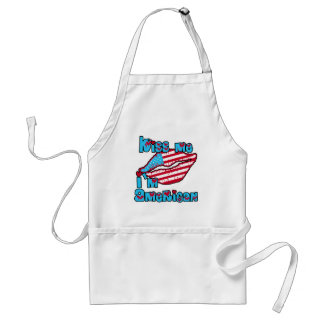 Kiss Me I'm American Products Aprons