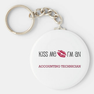 Kiss Me I'm an ACCOUNTING TECHNICIAN Basic Round Button Key Ring