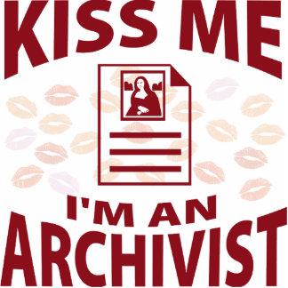 Kiss Me I'm An Archivist Photo Sculpture Decoration