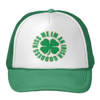Kiss Me Im an Irish Goddess Cap