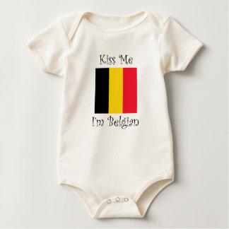 Kiss Me I'm Belgian Baby Bodysuit