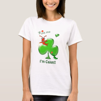 Kiss Me I'm Cajun Crawfish St Patrick's Day T-Shirt