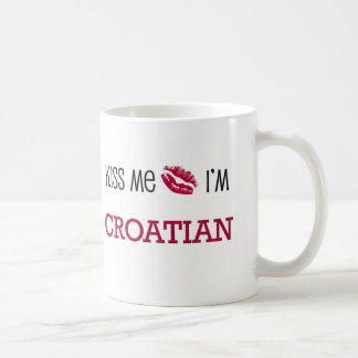 Kiss Me I'm CROATIAN Coffee Mug