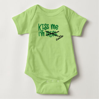 Kiss me I'm cute Baby one piece Baby Bodysuit