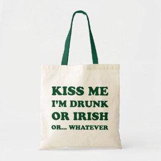 Kiss Me I'm Drunk Budget Tote Bag