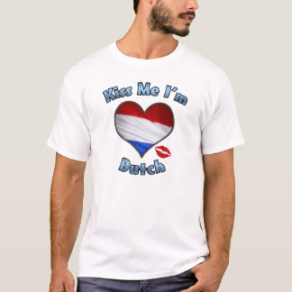 Kiss Me I'm Dutch Flag T-Shirt
