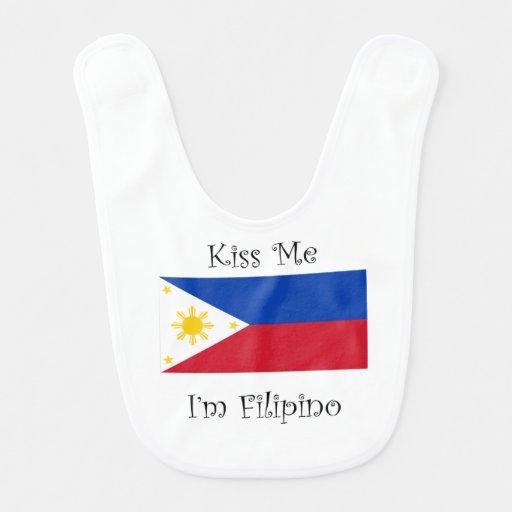 Kiss Me I'm Filipino Bibs
