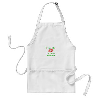 Kiss Me I'm from Indiana Adult Apron