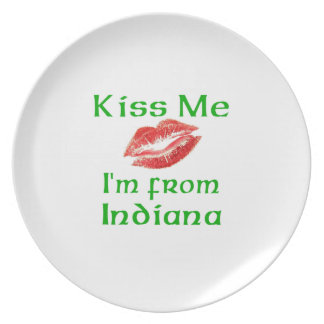 Kiss Me I'm from Indiana Party Plates