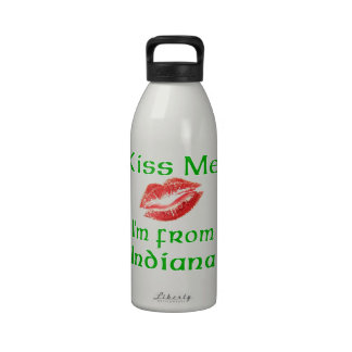 Kiss Me I'm from Indiana Water Bottles