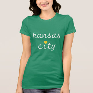 Kiss Me I'm From KC Heart (kelly green) T-Shirt