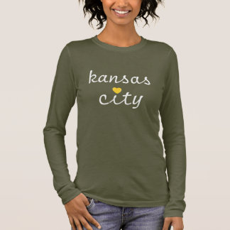 Kiss Me I'm From KC Heart (long-sleeve) Long Sleeve T-Shirt
