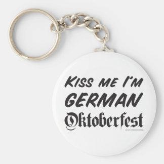 Kiss Me i'm German Basic Round Button Key Ring