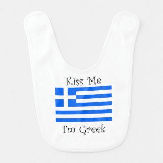 Kiss Me I'm Greek Bib