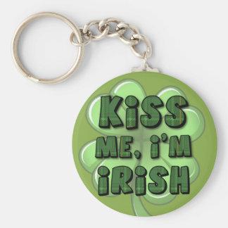 Kiss Me, I'm Irish 2 Basic Round Button Key Ring
