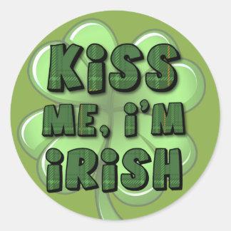 Kiss Me, I'm Irish 2 Round Stickers