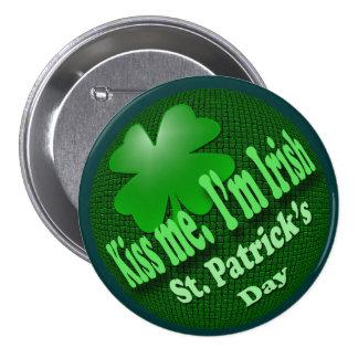 Kiss Me I'm Irish 7.5 Cm Round Badge