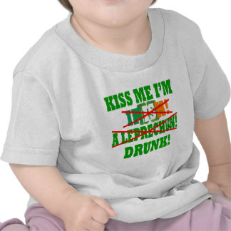 Kiss me I'm Irish, a leprechaun,drunk! T Shirt