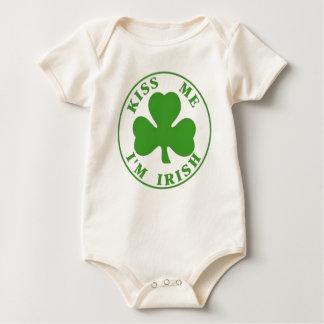 Kiss Me I'm Irish Baby T Baby Bodysuit