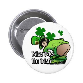 Kiss me I'm irish Button