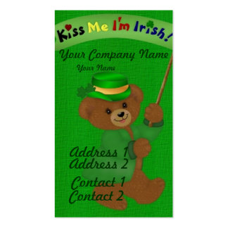 Kiss Me I'm Irish Double-Sided Standard Business Cards (Pack Of 100)