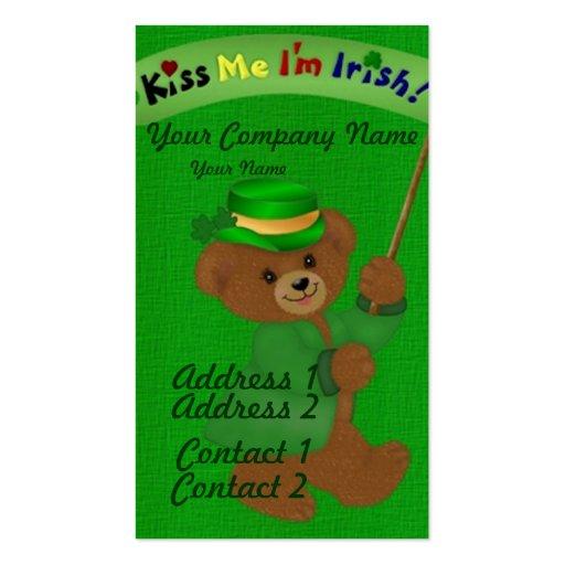 Kiss Me I'm Irish Business Card Templates