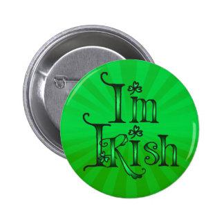 KISS ME I'M IRISH by SHARON SHARPE 6 Cm Round Badge