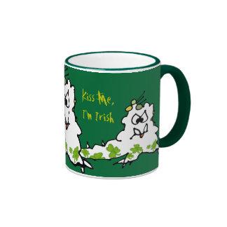 Kiss Me Im Irish Cartoon Monster Slug Mug