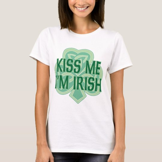 Kiss Me I'm Irish Celtic Knot Shamrock T-Shirt