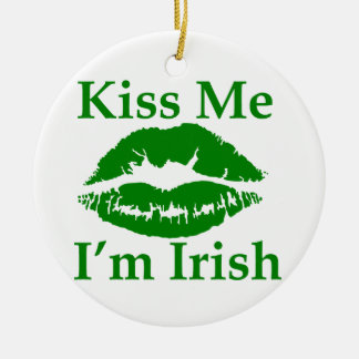 Kiss me I'm Irish Christmas Ornament