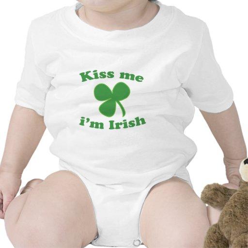 Kiss Me Im Irish Clover St Patrick's Day T-shirt