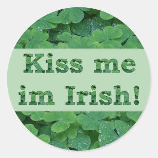 Kiss me im Irish Collection Round Sticker