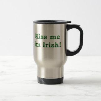 Kiss me im Irish Collection Stainless Steel Travel Mug