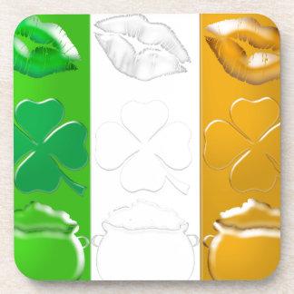 Kiss Me I'm Irish Drink Coasters