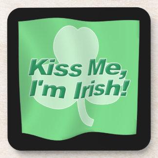 Kiss Me Im Irish Drink Coaster