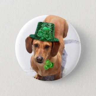 Kiss me I'm Irish Dachshund 6 Cm Round Badge
