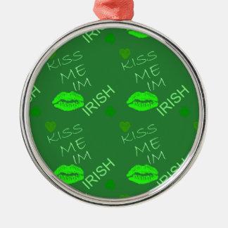 Kiss Me Im Irish Ornament