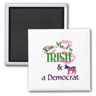 Kiss Me Im Irish-Democrat Square Magnet