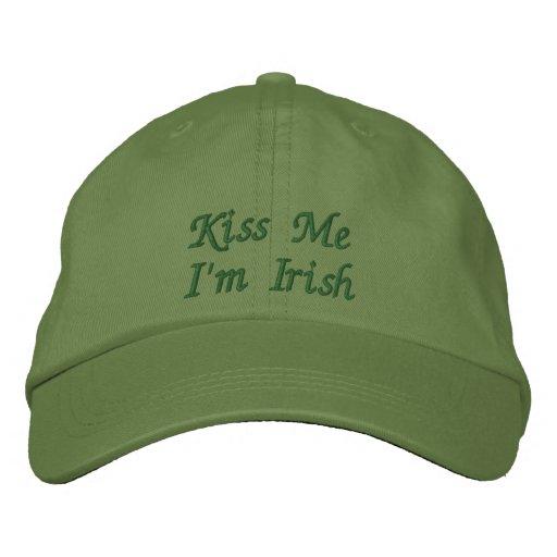 Kiss Me I'm Irish Embroidered Cap / Hat Embroidered Baseball Caps