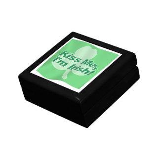Kiss Me Im Irish Flag Jewelry Box