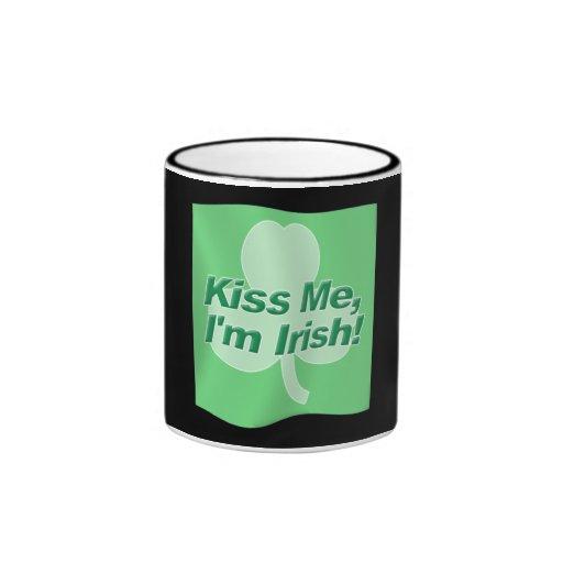 Kiss Me Im Irish Flag Coffee Mugs