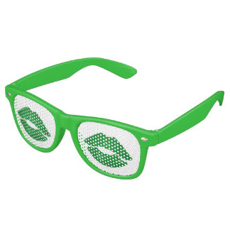 Kiss Me I'm Irish Fun Green St Patrick's Day Retro Sunglasses