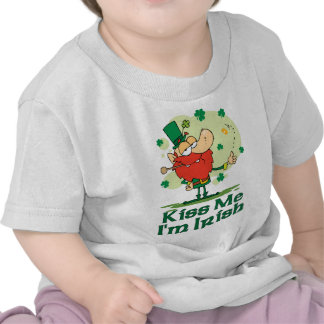 Kiss Me I'm Irish Funny Leprechaun Tshirts