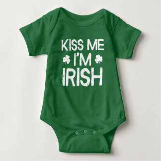 Kiss Me I'm Irish - Funny St. Patricks Day Baby Bodysuit