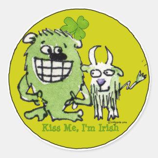 Kiss Me Im Irish Funny Stickers Seals
