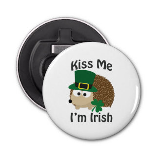 Kiss Me I'm Irish Hedgehog Bottle Opener